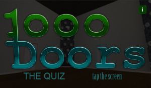 1000 Doors main title screen