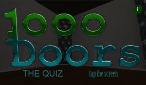 1000 Doors main title screen