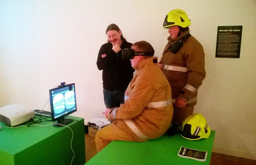 Building Blocks @ iMAG is so HOT that even the Fire Brigade wanted a go!