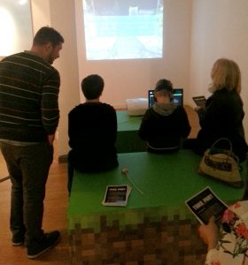 Happy players on the MineCraft VR iMAG Experience in Inverness